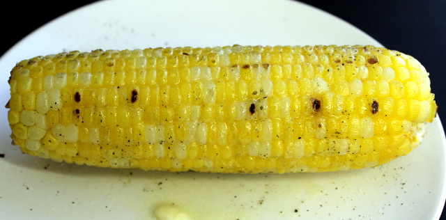 Grilled Corn with Butter Salt and Pepper