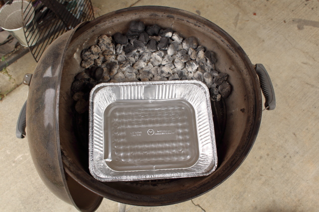 Indirect Grilling Setup for a Charcoal Grill