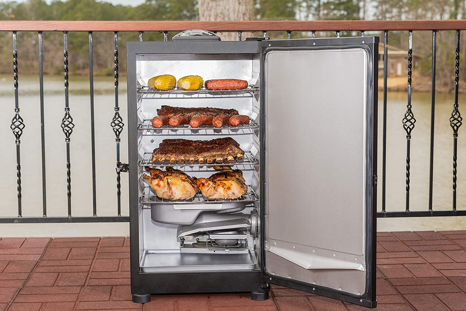 Masterbuilt MB20071117 Digital Electric Smoker, 30 inches, Black