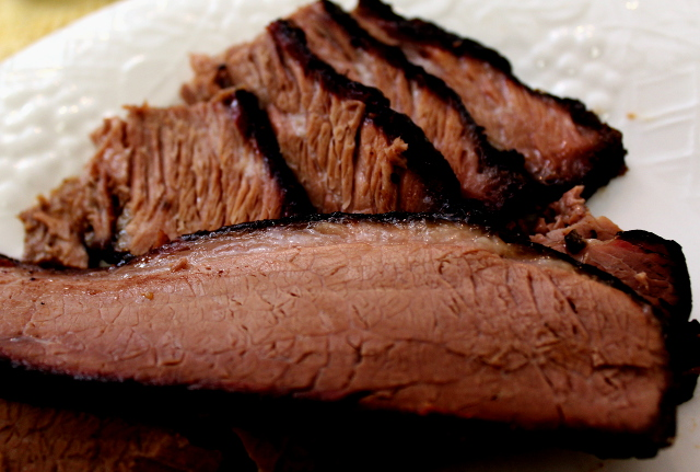 Sliced Barbecue Beef Brisket