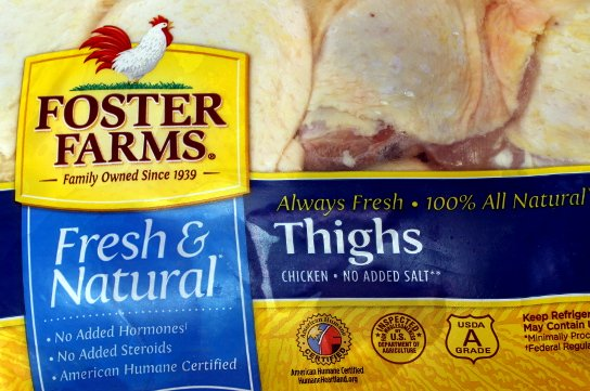 Fresh and natural chicken thighs